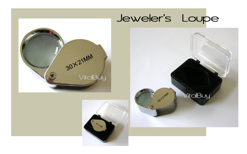 JEWELER'S LOUPE 30x 21mm SILVER EYE MAGNIFYING GLASS