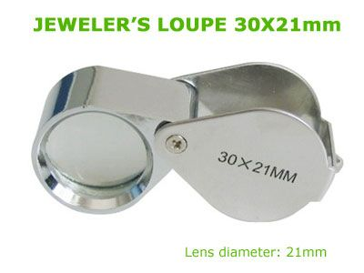 กล้อง JEWELER'S LOUPE 30x 21mm SILVER EYE MAGNIFYING GLASS