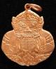 เหรียญพระราหูสองหน้า ตัดชิด วัดสุทัศน์ เนื้อทองแดง ตอกโค้ด ปี 2538 ขนาดห้อยคอ