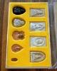 พระของขวัญ 9 องค์ หลวงปู่เหรียญ วรลาโภ รุ่นศรัทธบารมี วัดอรัญญบรรพต หนองคาย ปี พ.ศ. 2539
