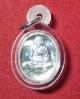 เหรียญไข่เล็ก 8รอบ เนื้อเงิน เลี่ยมพร้อมใส่เกศา หลวงปู่ชื้น วัดญาณเสน อยุธยา ปี45