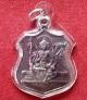 เหรียญพรหม หลวงปู่ทิม วัดพระขาว อยุธยา ปี38 ตอกโค๊ตด้านหลัง เนื้อทองแดงรมดำ
