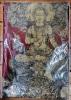 อภิปัญญามหาเศรษฐี พุทธศิลป์ในรูปแบบของ อ.เฉลิมชัย โฆษิตพิพัฒน์ ผ้ายันต์สีแดง ผืนใหญ่ ขนาด 35*25 นิ้ว
