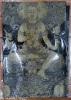 อภิปัญญามหาเศรษฐี พุทธศิลป์ในรูปแบบของ อ.เฉลิมชัย โฆษิตพิพัฒน์ ผ้ายันต์สีดำ ผืนใหญ่ ขนาด 35*25 นิ้ว