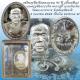 เหรียญที่ระลึกครบรอบ 91 ปี (ตั้วแซยิด)  หลวงปู่ตี๋ ญาณโสภโณ วัดหลวงราชาวาช ปี 2545 เนื้อเงิน